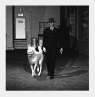 Man and Dog by Goldenthrush