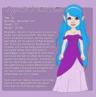 Character Sheet:  Kyrieli Antoinette by jesasaurus