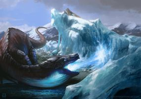 Bitra, the enunciator of the great cold by BNowakART