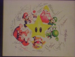 Signed Mario Party photograph by LordofNintendo