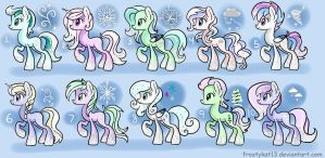 Frost Pony Adopts Set 1 (Closed) by frostykat13