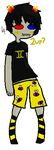 Sollux in Dem Bee Boxers by monkeyrockla