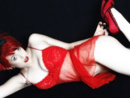 Amber In Red Teddie I by Snapfoto