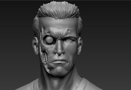 Arnie Digital Sculpt by foche2d