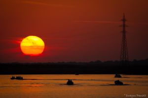 Sunset over Danube Delta by Dragos06