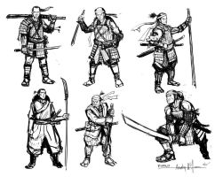 Samurai sketches 01 by FROSTconcepts