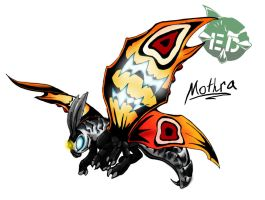 Kaiju Wars: Mothra by Blabyloo229
