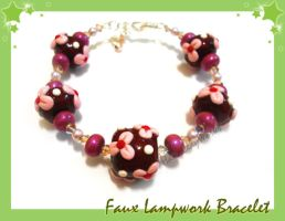 Faux Lampwork Beads xD by HanaClayWorks
