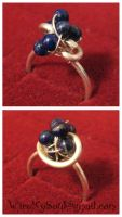 Silver and Lapis Lazuli Ring by WireMySoul