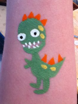 Dinosaur Face Paint by QuarantinedRoses15