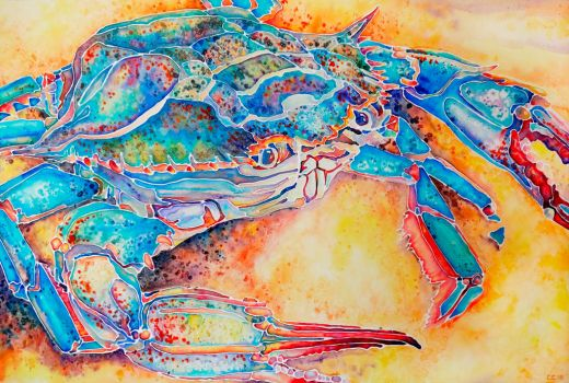 Crab Watercolor by Nosseren