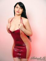 Mademoiselle Ilo - Two Tone latex dress - Model Mo by Mademoiselle-Ilo
