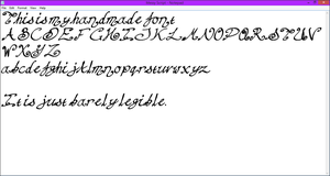 Font Test by DraconianRain