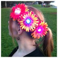 LED Fire Flower Rave Daisy Hair Clip by GeekStarCostuming