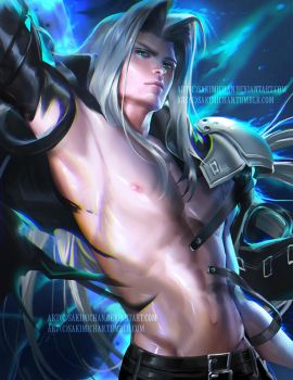 Sexy Sephiroth .NSFW optional. by sakimichan