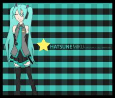 Art trade Miku Hatsune by purplepunchi