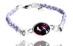 Swarovski Crystal Light Purple Braided Bracelet by crystaland