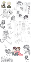 Anime Sketch Dump of Summer 14 by FrostheartIsSiamese