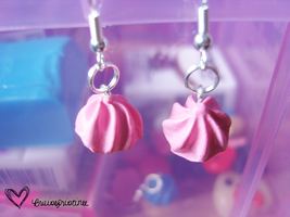 Pink Frosting Earrings by bruisepristinex