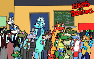 Of Nerds and Dragons Cover 2014 by TeamTeaandBiscuits