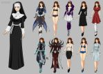 Sister Merriam Wardrobe (commission) by Precia-T