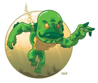 Creature from the Black Lagoon by ballsybalsman