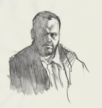 Self portrait with wash pencil by grobles63