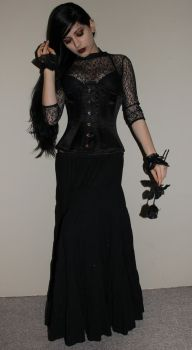 Stock - Gothic - Her Black Rose by Mahafsoun