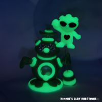 Polymer Clay Alien I Love Glowing Aliens LED by KIMMIESCLAYKREATIONS