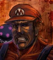 Bad Mario by Gold-copper