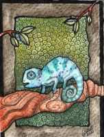 Dinky doo chameleon ACEO by DawnyDawn