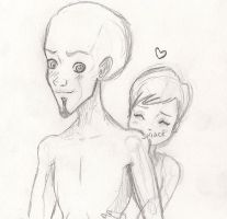 Megamind and Roxanne - Back (Sketch) by Arika27