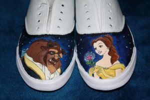 beauty and the beast shoes by beca92
