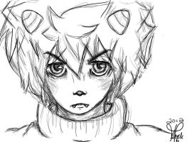 Karkat rough sketch, Uncolored by XPockyDemonX
