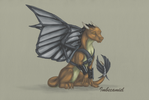 Baby Falcon (Sam Wilson) Dragon by Imbecamiel