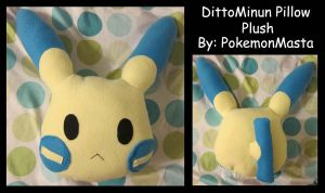 DittoMinun Pillow Plush by PokemonMasta