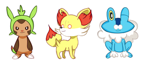 Pokemon XY Trio by darIing