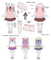 Casual lolita design by Kairi-Moon