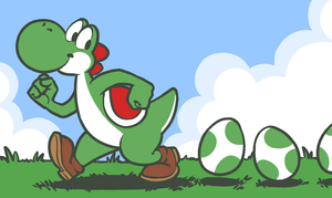 Three eggs n' Yoshi by Bockom