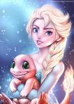 Elsa and Charmander by alanscampos