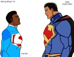 Kalel Calvin Ellis and Val Zod by RFyle119