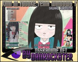 Sawako Kuronuma Theme Windows 7 by Danrockster