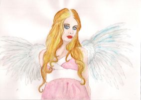 pink angel by Duckmad
