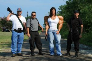 Buff 'armed' girl, with gang by califjenni3