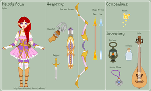 LoZ - Melody Reference Sheet by porcelian-doll