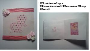 Fluttershy Hearts and Hooves Day Card by AppieJackie