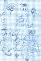 Mario and Luigi doodles 2 by Yuktopus