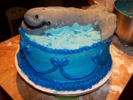 Whale Birthday Cake by Crosseyed-Cupcake