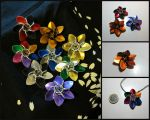 Scale Hexagonal Flowers by JeiThings