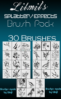 Distorted Splatter Brushes by xlilmilx